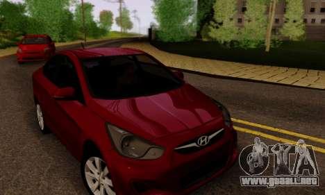 Hyndai Solaris para las ruedas de GTA San Andreas