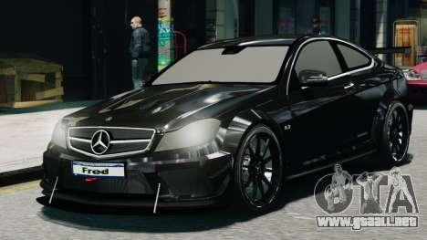 Mercedes-Benz C63 AMG Black Series 2012 para GTA 4