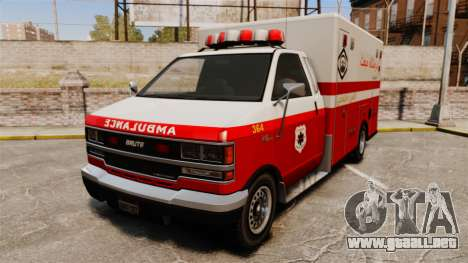 Iraní de pintura ambulancia para GTA 4