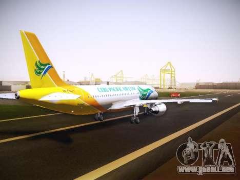 Airbus A320 Cebu Pacific Air para vista lateral GTA San Andreas