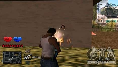 C-HUD para GTA San Andreas sucesivamente de pantalla