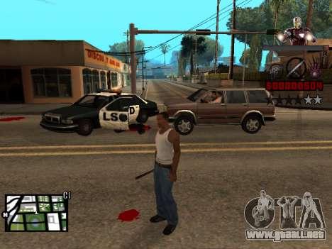 C-HUD hombre de Hierro para GTA San Andreas segunda pantalla