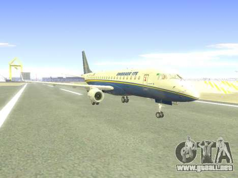 Embraer 175 HOUSE para GTA San Andreas vista posterior izquierda