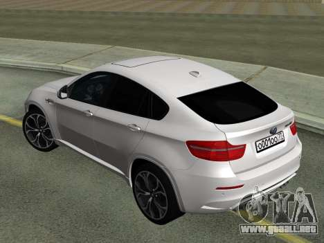 BMW X6M 2010 para la visión correcta GTA San Andreas