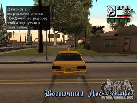 AutoDriver para GTA San Andreas tercera pantalla