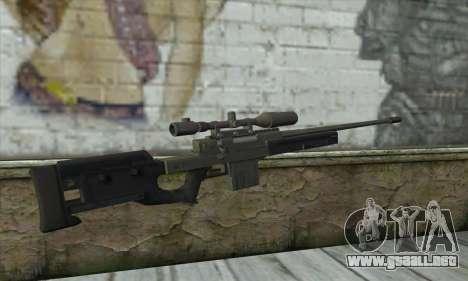 GTA V Sniper rifle para GTA San Andreas segunda pantalla