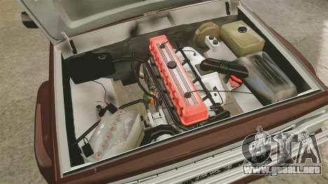 Jeep Carver 6X6 para GTA 4 vista hacia atrás