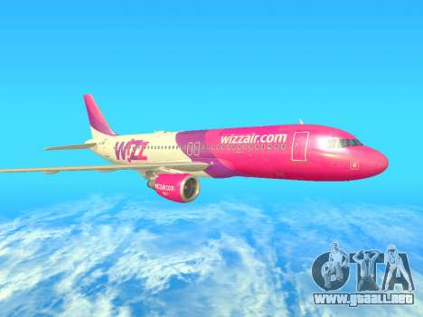 Airbus A320-200 WizzAir para GTA San Andreas