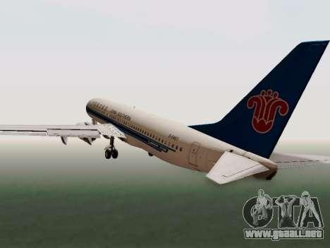 China Southern Airlines Boeing 737-800 para visión interna GTA San Andreas
