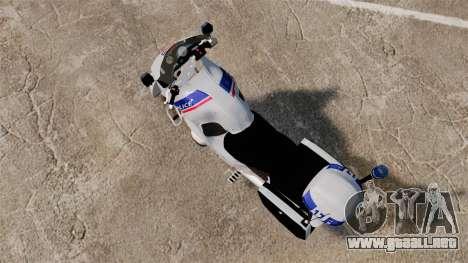 BMW R1150RT Police nationale [ELS] para GTA 4 Vista posterior izquierda
