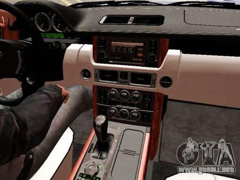 Land Rover Supercharged Stock 2010 V2.0 para GTA San Andreas interior