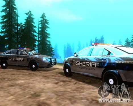 Ford Interceptor Los Santos County Sheriff para la visión correcta GTA San Andreas