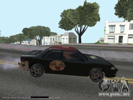 Vinilos para el Sultán para GTA San Andreas vista posterior izquierda
