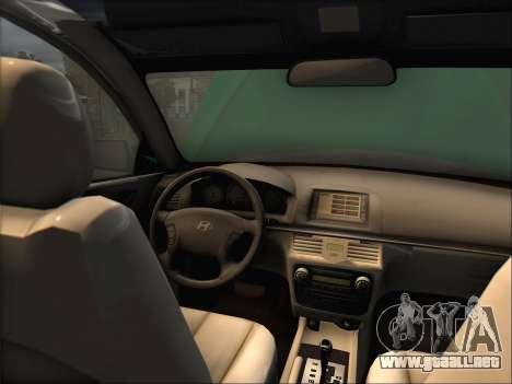 Hyundai Sonata 2009 para GTA San Andreas left