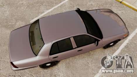 Ford Crown Victoria 2008 LCPD Detective [ELS] para GTA 4 visión correcta
