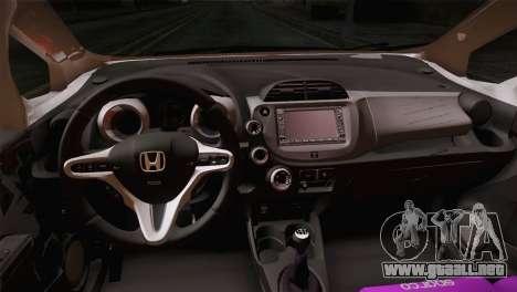 Honda Jazz RS Street Edition para GTA San Andreas vista hacia atrás
