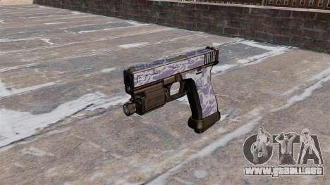 La Pistola Glock 20 Blue Tiger para GTA 4 tercera pantalla