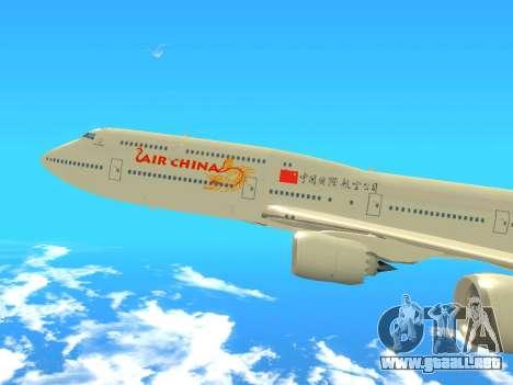 Boeing 747 Air China para GTA San Andreas vista posterior izquierda