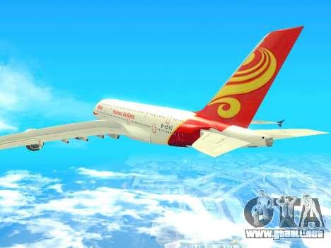 A380-800 Hainan Airlines para GTA San Andreas left