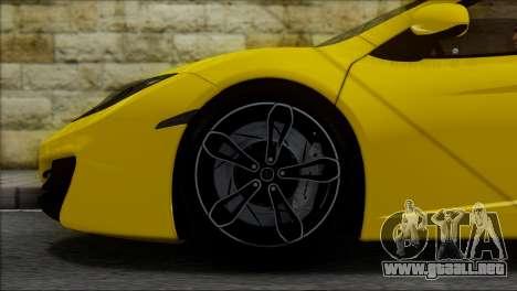 McLaren MP4-12C Spider para visión interna GTA San Andreas
