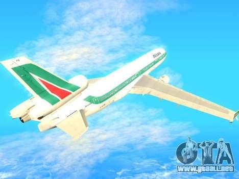 McDonnell Douglas MD-11 Alitalia para GTA San Andreas vista hacia atrás