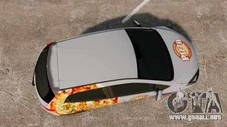 Mazda 2 Pizza Delivery 2011 para GTA 4 visión correcta