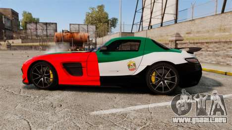Mercedes-Benz SLS 2014 AMG UAE Theme para GTA 4 left