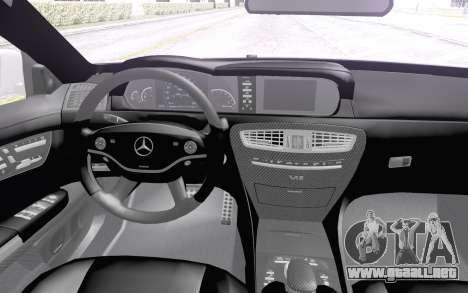 Mercedes-Benz CL65 AMG para GTA San Andreas vista hacia atrás