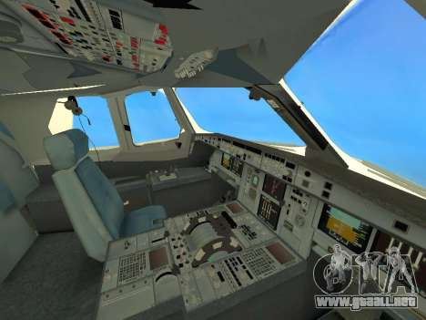 A380-800 Hainan Airlines para vista lateral GTA San Andreas