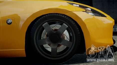 Nissan 370Z 2009 para GTA 4 visión correcta