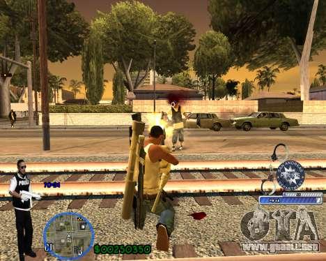 C-HUD For Police Departament para GTA San Andreas sexta pantalla
