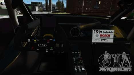 Audi RS5 DTM para GTA 4 vista lateral