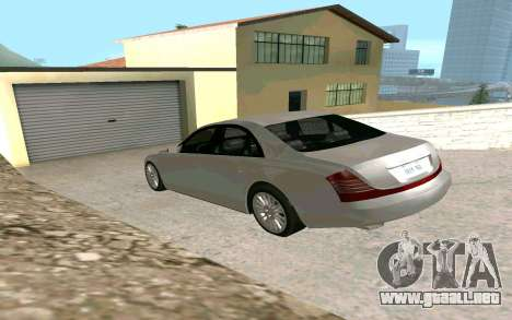 Maybach 57 TT Black Revel para GTA San Andreas left