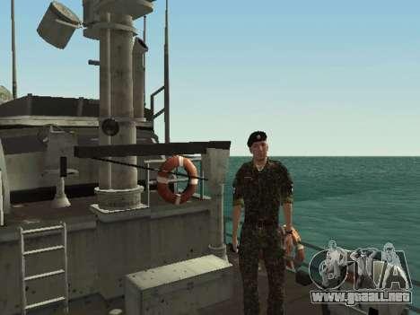 El Cuerpo de infantería de marina de las fuerzas para GTA San Andreas octavo de pantalla