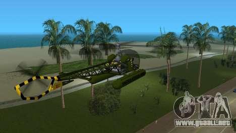 Bell 13H Sioux para GTA Vice City visión correcta