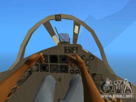 FMA IA-58 Pucara para GTA San Andreas vista hacia atrás