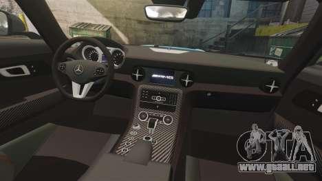 Mercedes-Benz SLS 2014 AMG Black Series Area 27 para GTA 4 vista lateral