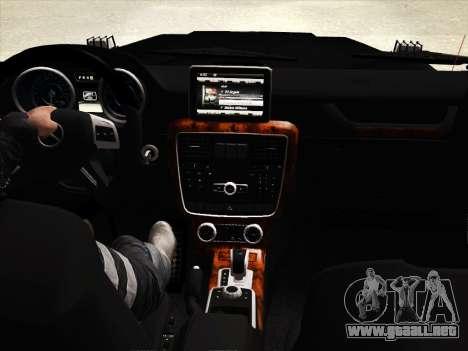 Mercedes-Benz G65 AMG 2013 para la vista superior GTA San Andreas