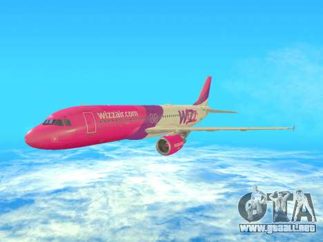 Airbus A320-200 WizzAir para GTA San Andreas left