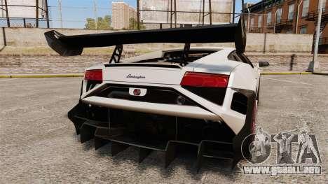 Lamborghini Gallardo LP570-4 Super Trofeo para GTA 4 Vista posterior izquierda