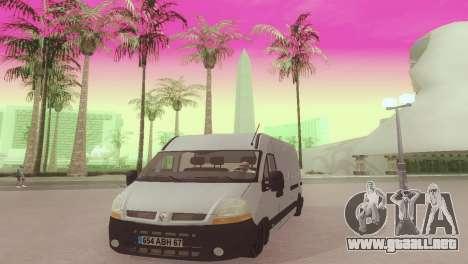 Renault Master para GTA San Andreas vista hacia atrás