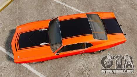 Declasse SabreGT new wheels para GTA 4 visión correcta