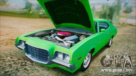 Ford Gran Torino De 1972 para vista lateral GTA San Andreas