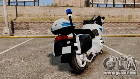 BMW R1150RT Police municipale [ELS] para GTA 4 Vista posterior izquierda