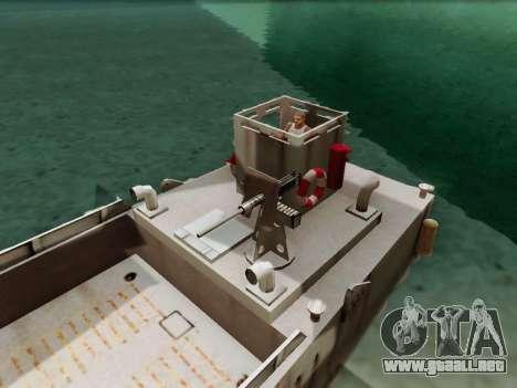 Landing Craft para GTA San Andreas vista hacia atrás