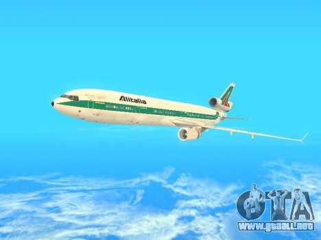 McDonnell Douglas MD-11 Alitalia para la vista superior GTA San Andreas