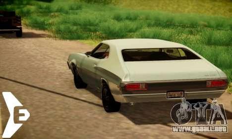 Ford Gran Torino De 1972 para GTA San Andreas vista hacia atrás