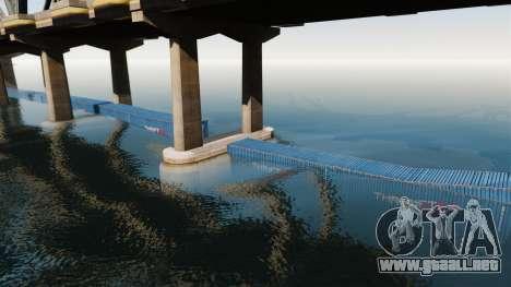 La carretera por debajo del puente para GTA 4 adelante de pantalla