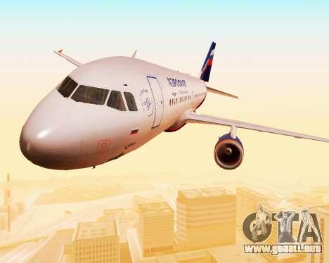 Airbus A320-200 De Aeroflot para la vista superior GTA San Andreas