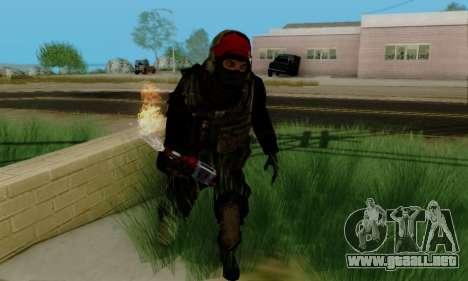 Kopassus Skin 1 para GTA San Andreas quinta pantalla